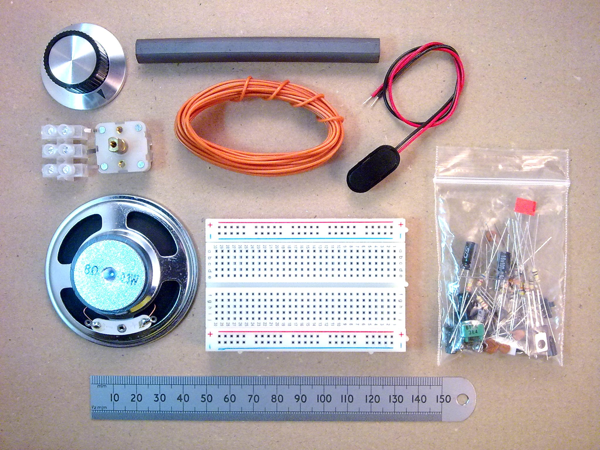 Useful Components Breadboard Transistor Radio Am Circuit Parts Included In The Kit