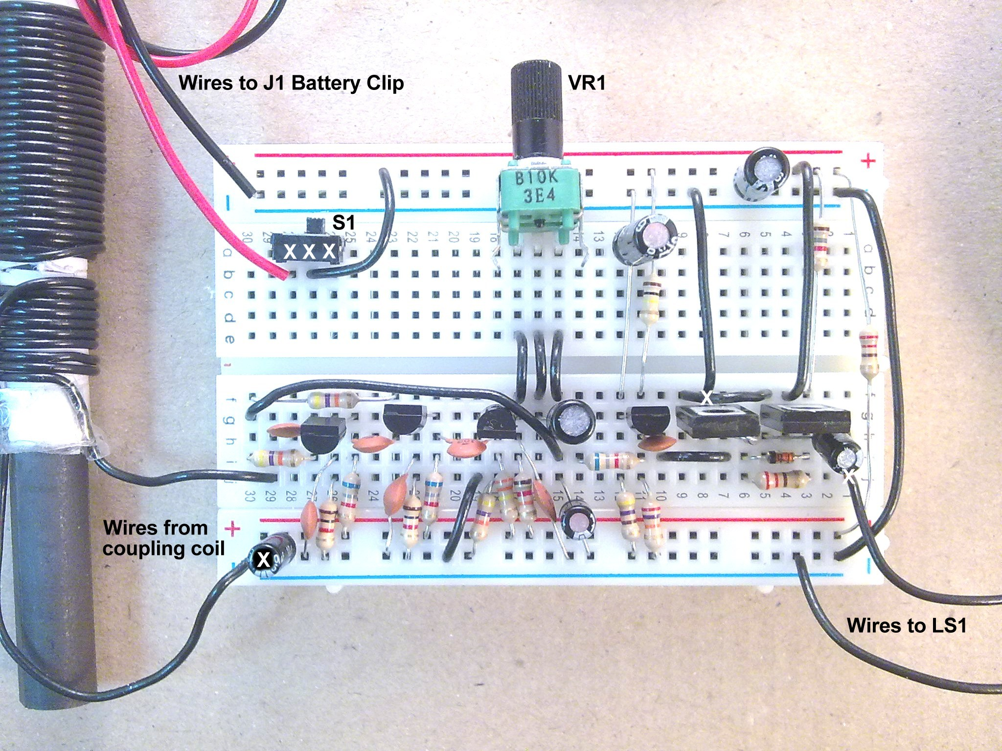 Useful Components Breadboard Transistor Radio Block Diagram Of Craft Electronics Mw On Prototype Board Complete Detail