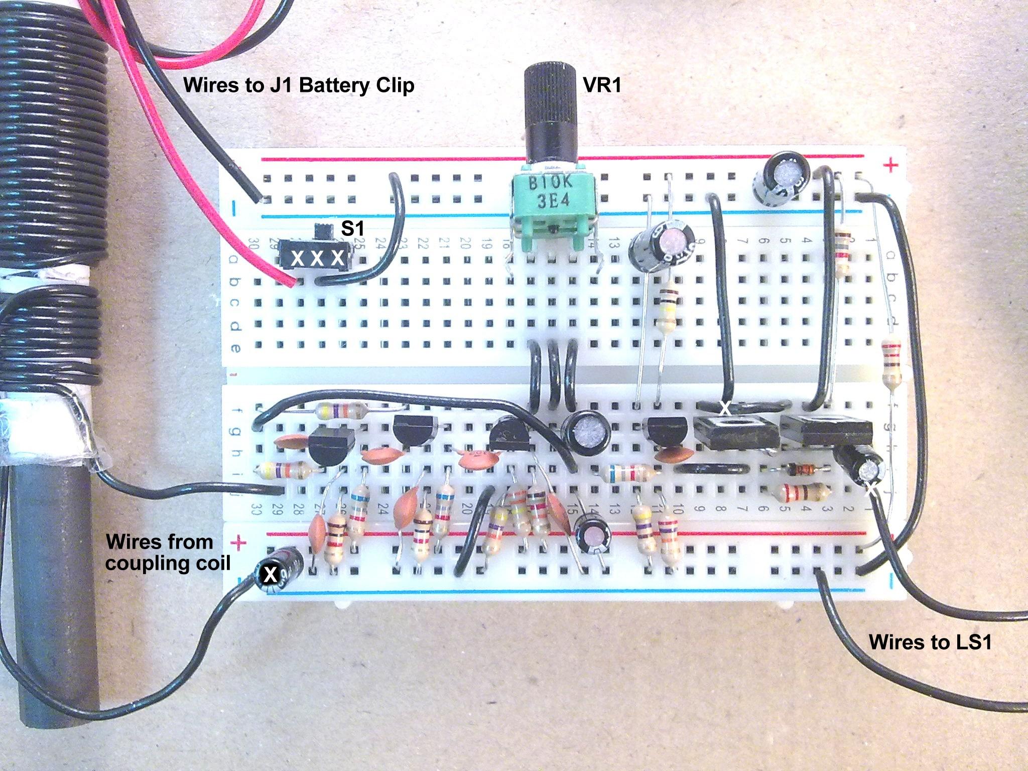 Useful Components Breadboard Transistor Radio