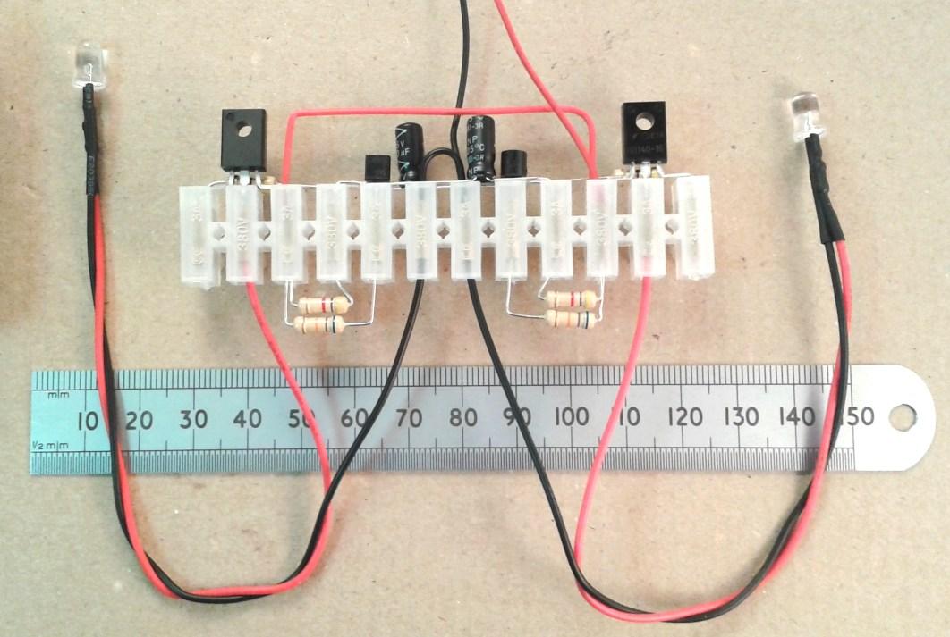 The choccy block flashing light flip flop kit